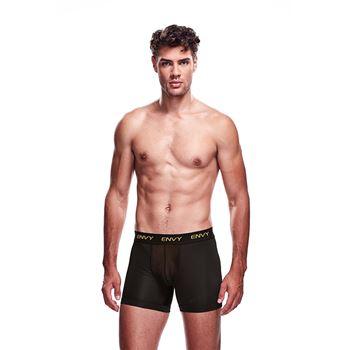 Envy zwarte boxer met pijpjes en transparante pouch