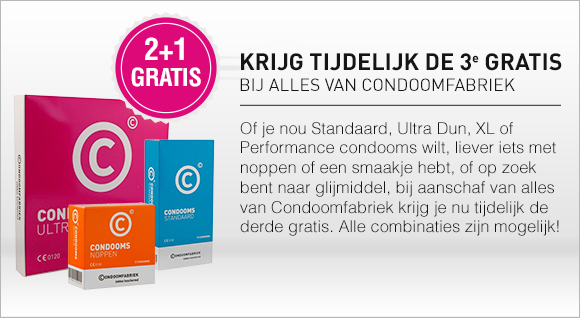 Condoomfabriek 2+1 gratis