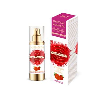 Mai feromonen massageolie verwarmend aardbei 30 ml