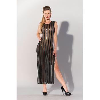 Printed Datex gestreepte lange jurk