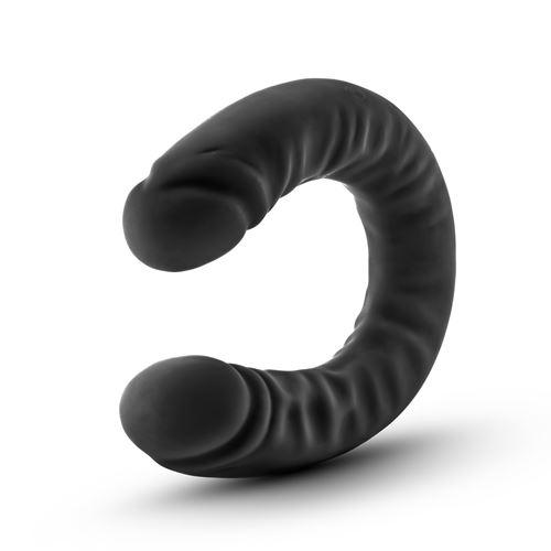 Ruse siliconen zwarte dubbele dong