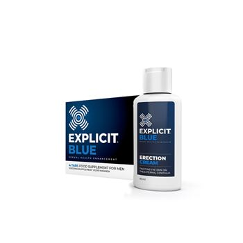 Explicit Blue pillen + erection cream