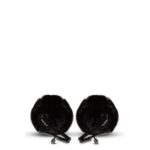 Verstelbare tepelklemmen met pompons Noir