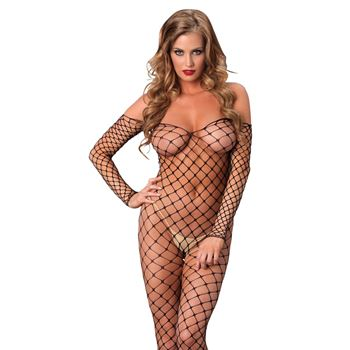 Kruisloze off-the-shoulder bodystocking
