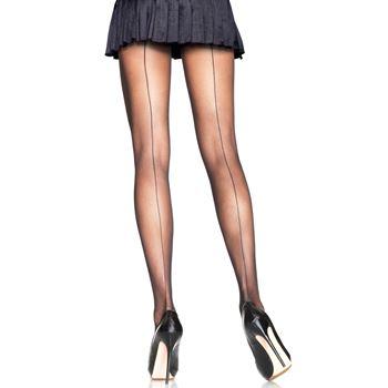 Transparante panty met elegante naad