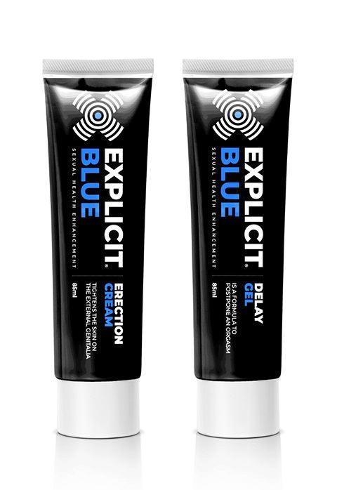 Explicit Blue erection creme + delay gel