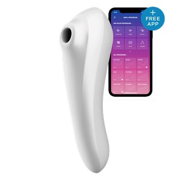 Satisfyer Dual Pleasure luchtdruk stimulator met vibraties en app bediening
