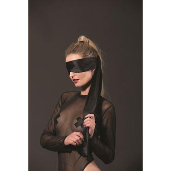 Satijnen blinddoek met Guilty Pleasure glitter tekst