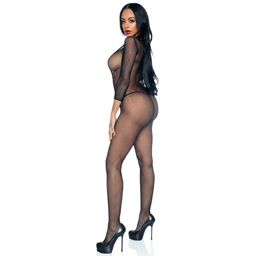 Open kruis visnet bodystocking