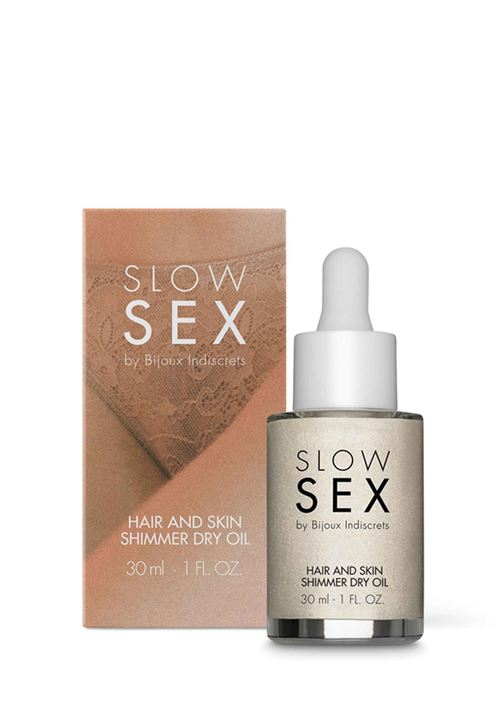 Slow Sex - Haar & Huid Shimmer Dry Olie - 30 ml
