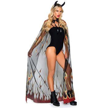 Duivel cape en hoorns Halloween Kostuum