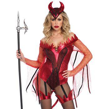 Verblindende Rode Duivel Halloween kostuum