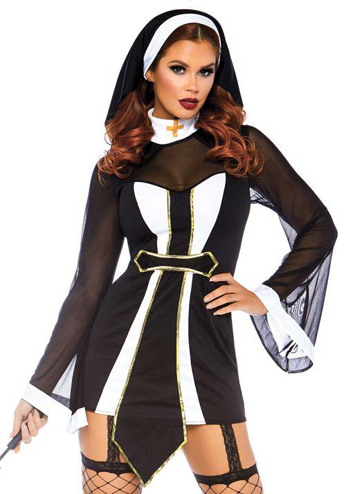 Verleidelijke Kloosterzuster Halloween kostuum