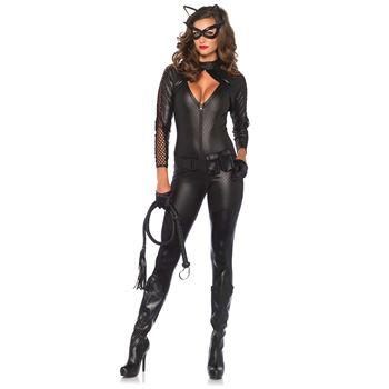 Sexy Zwarte Kat Halloween kostuum