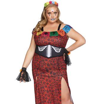 Deluxe Dag van de Doden Halloween kostuum (plussize)
