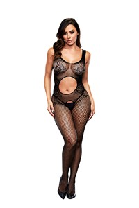 Baci Open Front kruisloze bodystocking