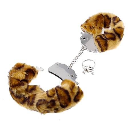 FF pluizige handboeien (Kleur: Cheetah)
