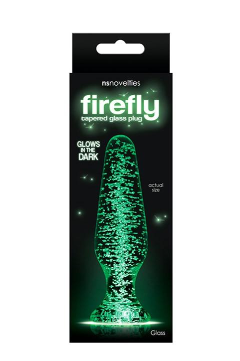 Firefly glazen anaalplug 10.5cm