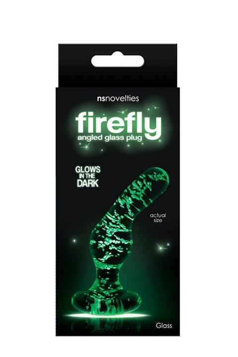 Firefly glazen gebogen anaalplug