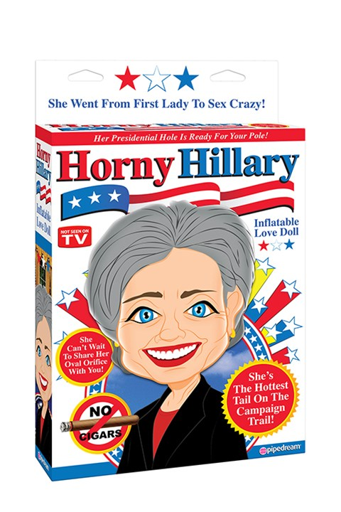 Horny Hillary opblaaspop
