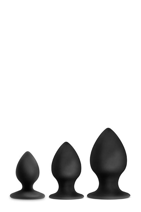 Luxe zwarte anaalplug set