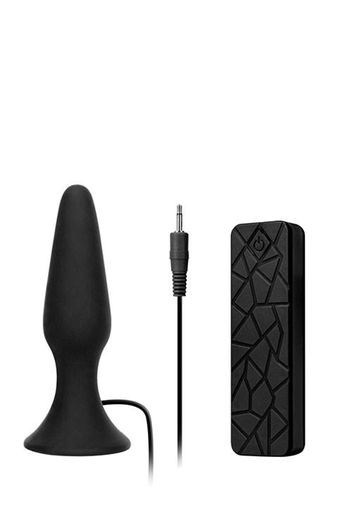 MenzStuff vibrerende anaalplug 13cm (Kleur: Zwart)