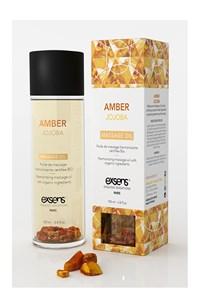Organische massageolie met amber steentjes (jojoba & amber)