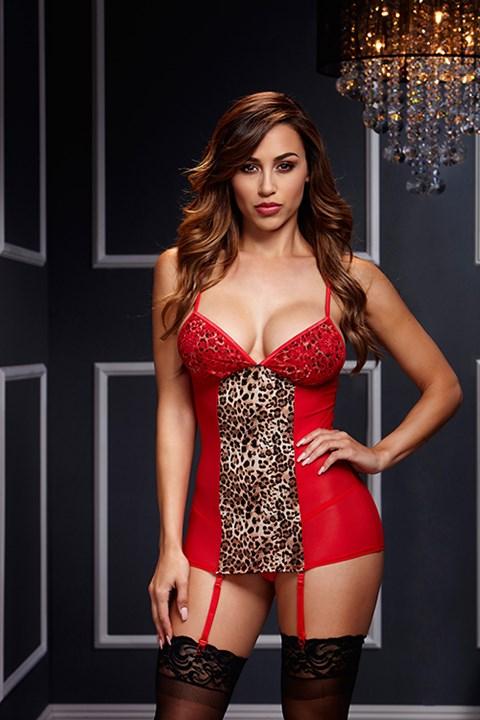 Rood luipaard jurkje (Maat: One size)
