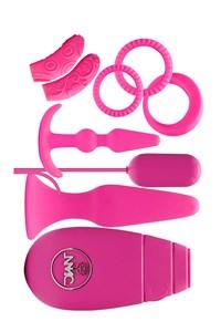 Roze flirty sexpakket voor stellen
