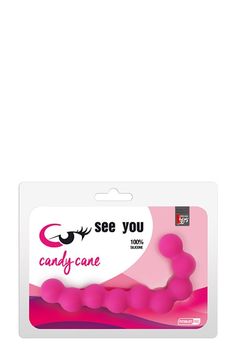 See You Candy Cane anaalkralen (Kleur: Paars)