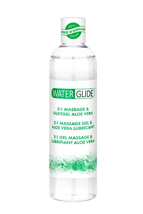Waterglide 2-in-1 massagegel (Geur: Aloë Vera)
