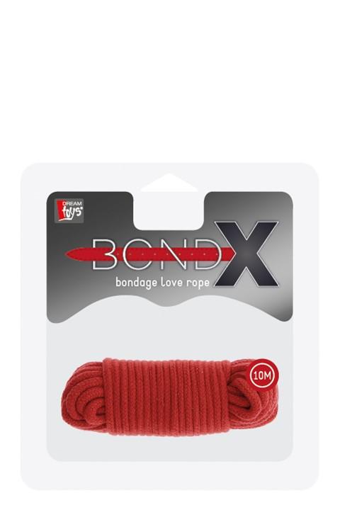 BondX liefdes touw (10 m) (Kleur: Rood)