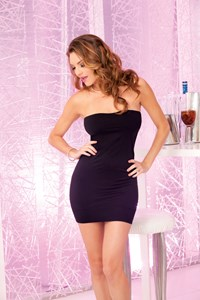 Zwarte tube mini jurk