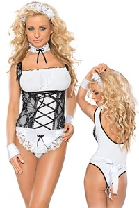 5-Delig huishoudster kostuum