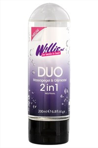 Willie duo massagegel & glijmiddel