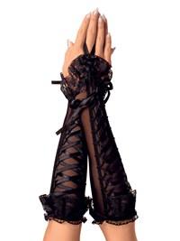 Handschoenen met veterdetail