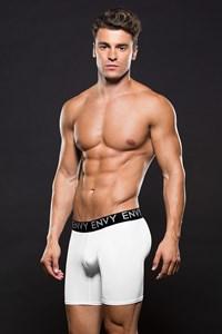 Witte boxer met lange pijpen