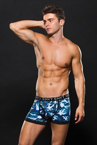Blauwe camouflage boxer