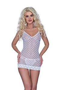 Wit jurkje met bijpassende string