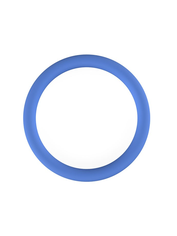 Blauwe Siliconen Cockring