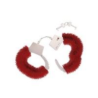 Handboeien met rood pluche