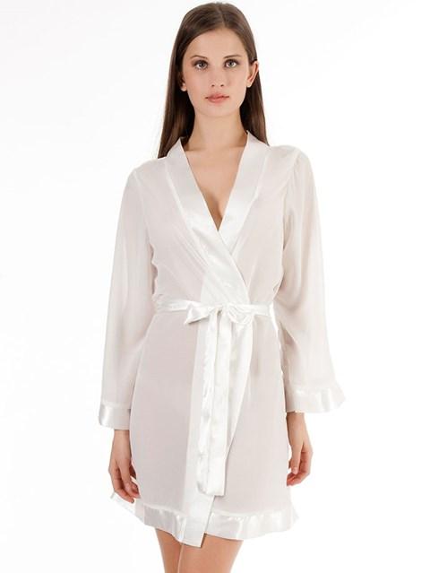 Bluebella witte Chiffon kimono (Maat: S)