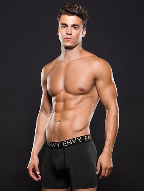 Zwarte lowrise elastische boxer (Maat: M/L)