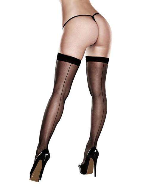 Sexy stay-up kousen met naad (Maat: One size)
