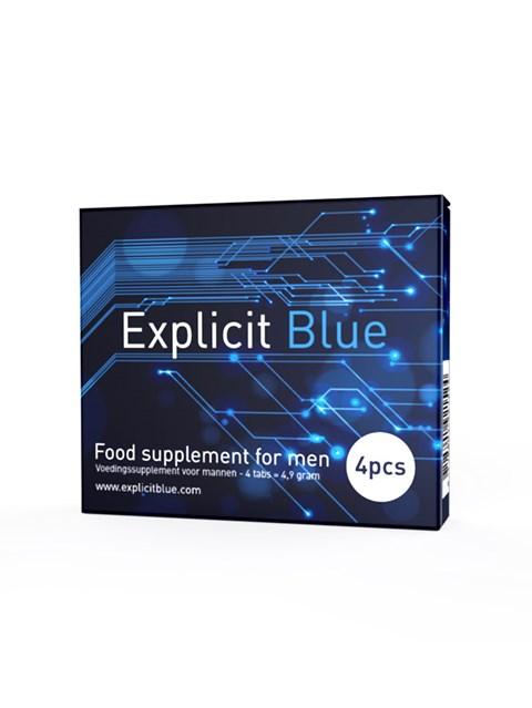 Explicit Blue erectiepil 4 tabs