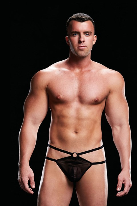 Envy Low-Rise g-string (zwart) (Maat: L / XL)