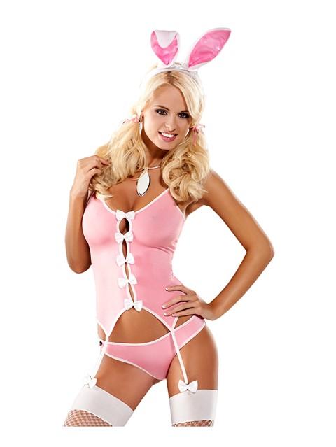 Obsessive - konijn kostuum (Maat: S/M)