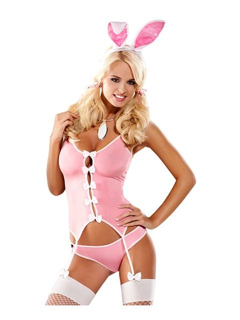 Obsessive - konijn kostuum (Maat: L/XL)