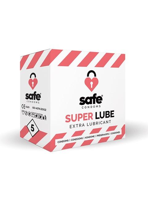 Safe Superlube condooms (Inhoud: 5 stuks)