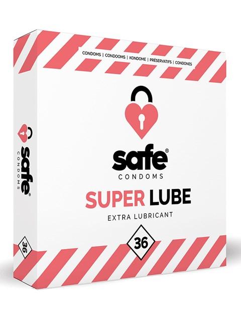 Safe Superlube condooms (Inhoud: 36 stuks)